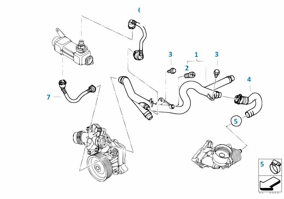 Винт для удаления воздуха системы охлаждения Ауди Б5 1994-1997 A4