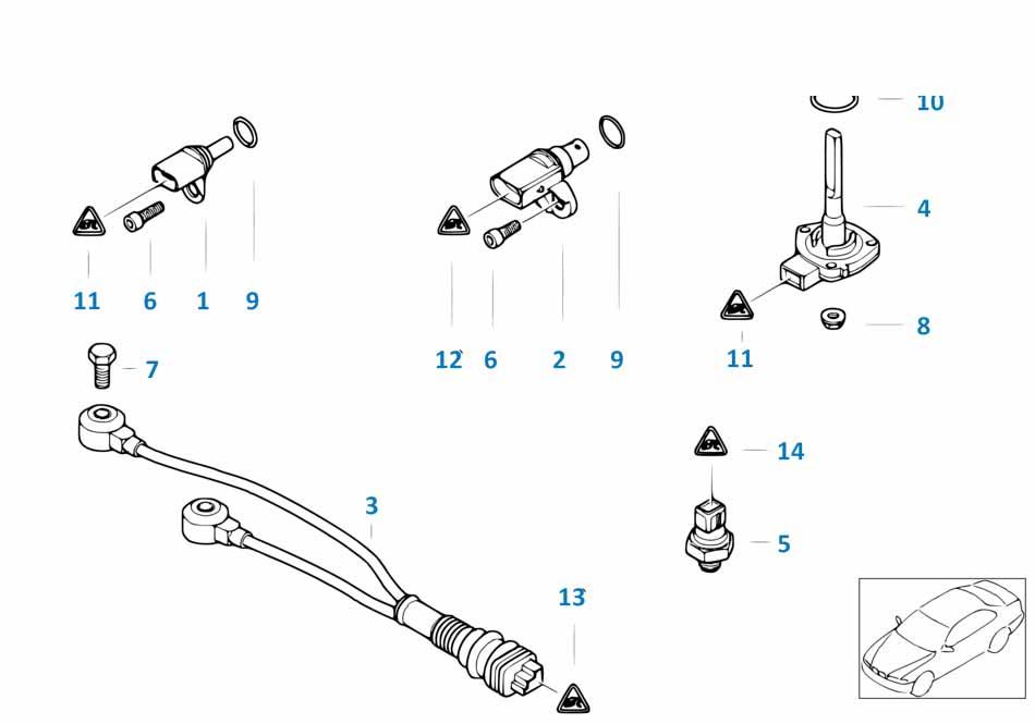 Выключатель индикатора давления масла Бмв Е87 ЛСi 1 серия
