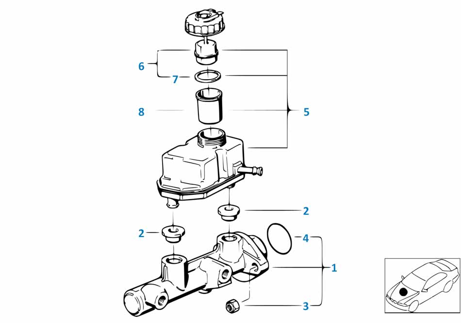 Главный тормозной цилиндр Мерседес Бенз В447 2014-2016 V class
