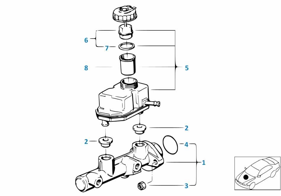 Главный тормозной цилиндр Ауди Д2 1996-2002 S8