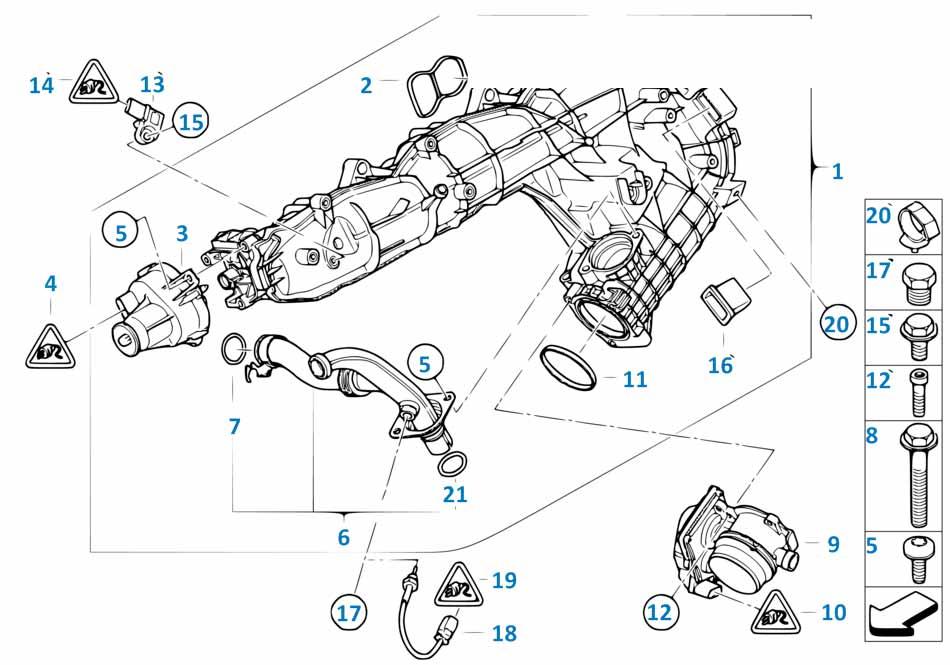 Датчик давления турбины Бмв Е82 1 серия