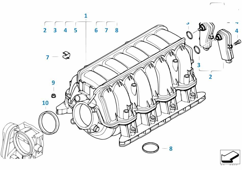 Датчик разности давления Бмв Е87 ЛСi 1 серия