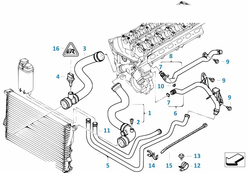Датчик температуры двигателя Бмв Е87 ЛСi 1 серия