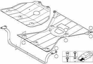 Защита мотора Бмв Е82 1 серия