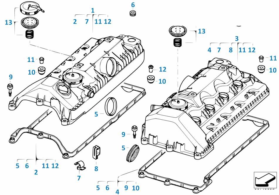 Клапанная крышка Порше ГТС 2012-2016 Boxster