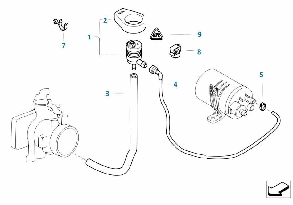 Клапан вентиляции топливного бака Бмв Е87 ЛСi 1 серия