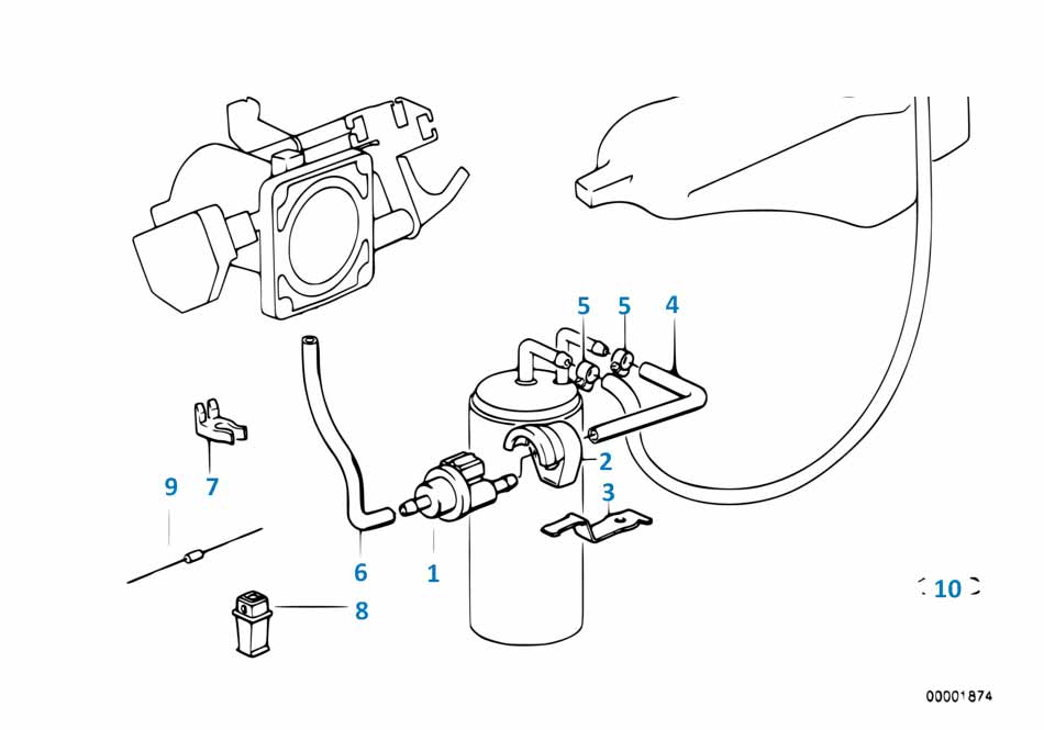 Клапан вентиляции топливного бака  купить