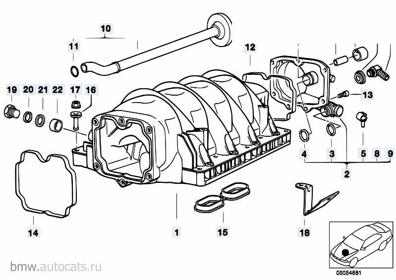 Клапан впускной Бмв Е87 ЛСi 1 серия