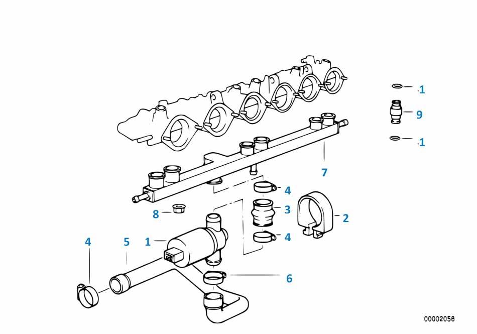 Клапан холостого хода Форд 3 2014-2016 Focus