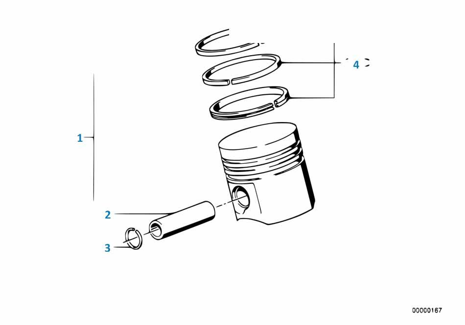 Е87 ЛСi кольца поршневые (комплект на 1 поршень)  купить