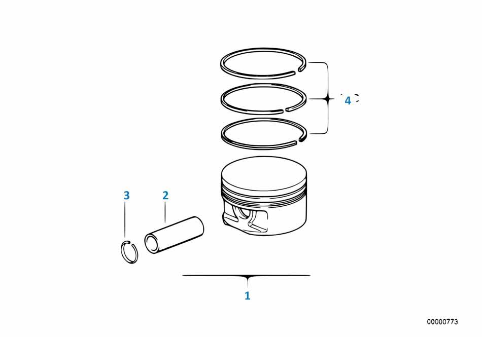 В447 2014-2016 Кольца поршневые (комплект на 1 поршень)  заказать