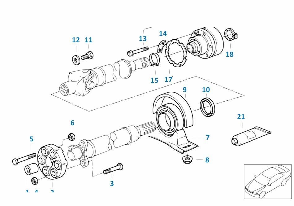 Крестовина кардана Лэндр Ровер 1 2014-2016 Discovery sport