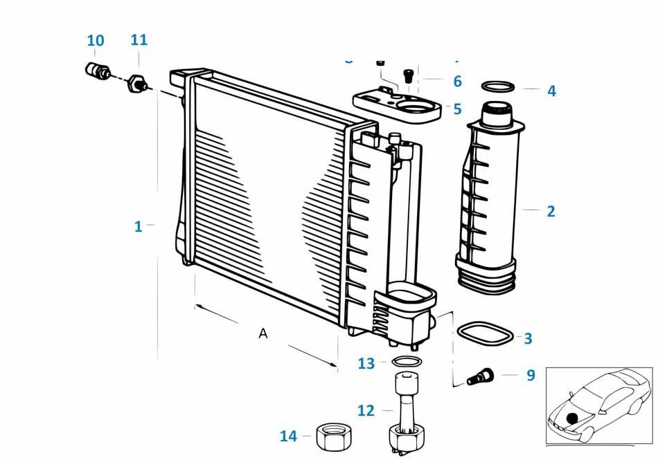 Крышка расширительного бачка радиатора Бмв Е87 ЛСi 1 серия