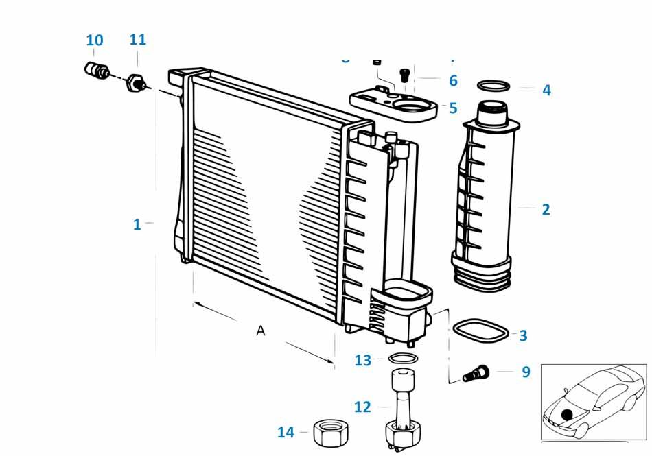 Крышка расширительного бачка радиатора Шкода 3 2013-2016 Octavia