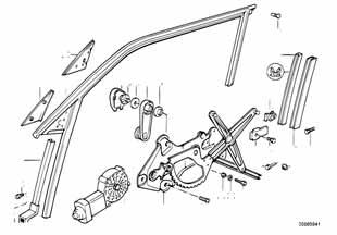 Механизм стеклоподъемника Бмв Е82 1 серия