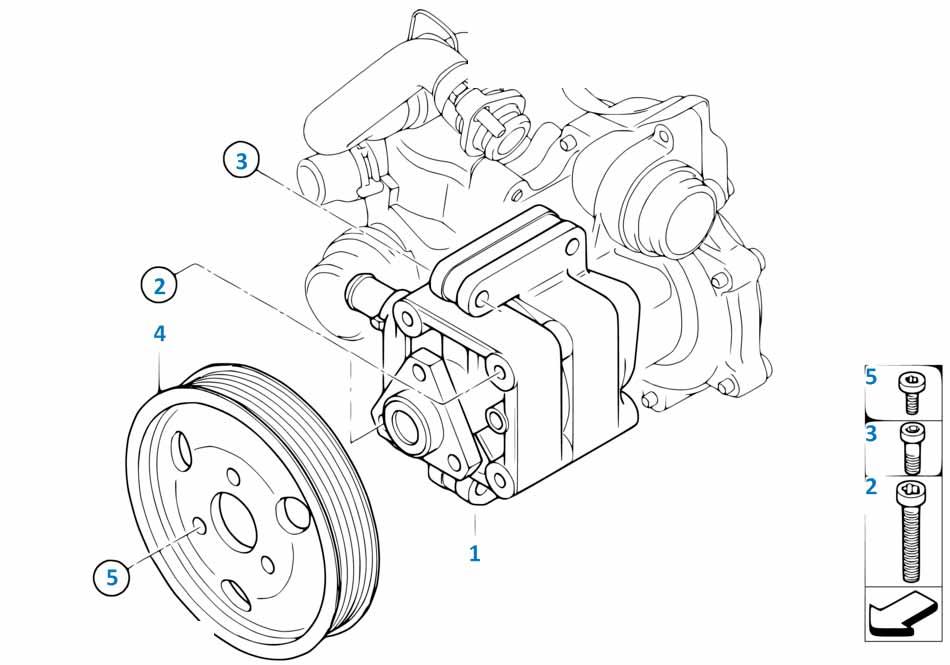 Насос гидроусилителя руля Бмв Е46 3 серия