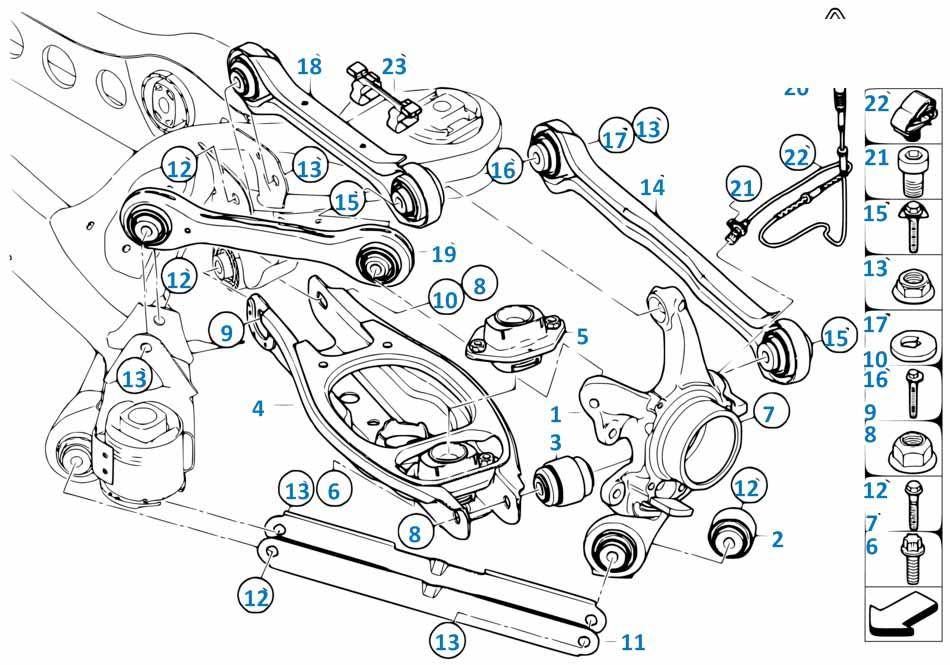 Опора задней балки Форд 1 2008-2013 Kuga