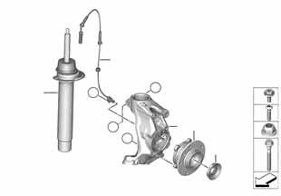 Е87 ЛСi опора передних амортизаторов  заказать