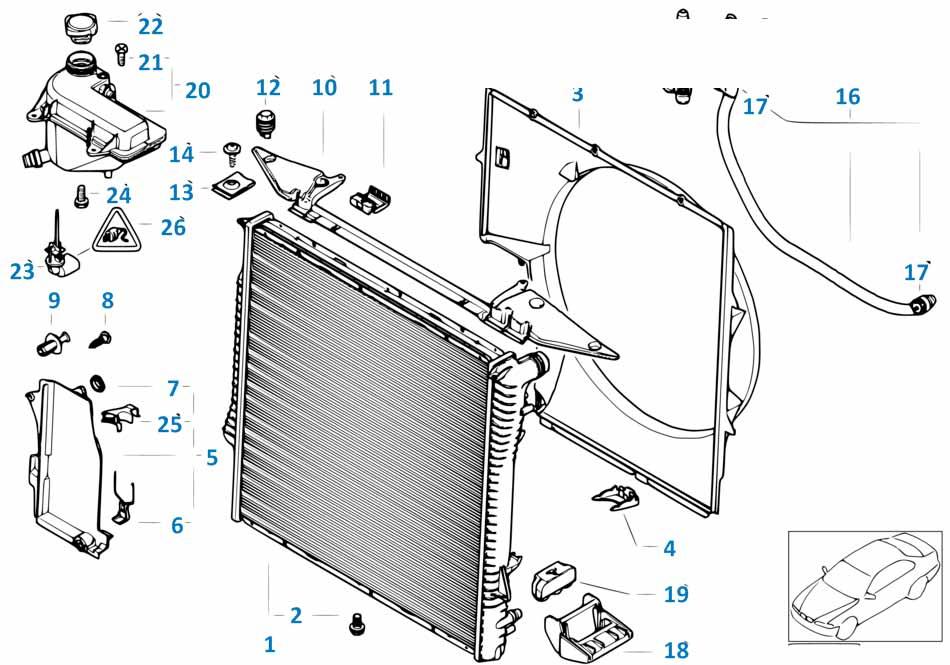 Пробка сливная радиатора Бмв Е63 ЛСi 6 серия