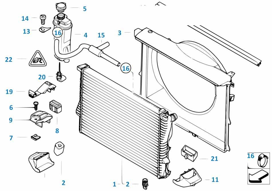 Е81 пробка сливная радиатора  купить
