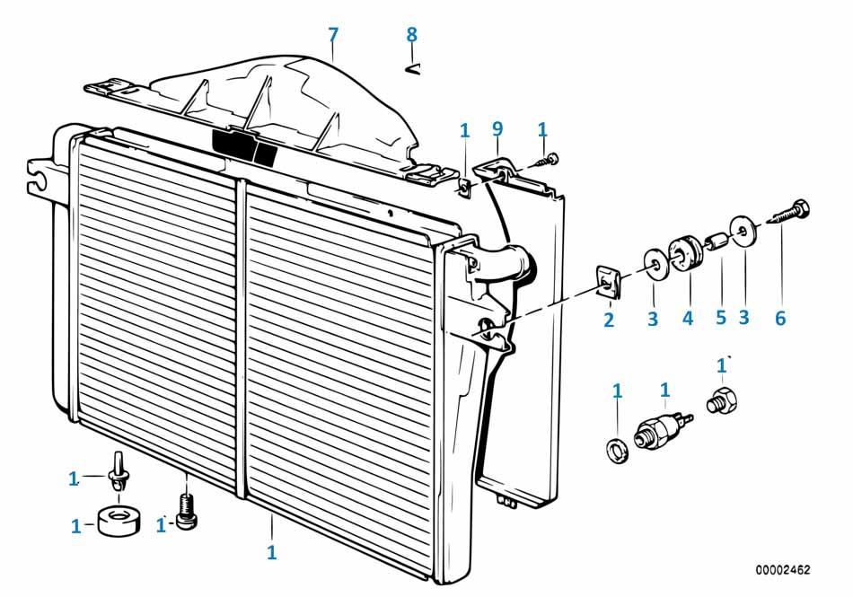 3 1997-2002 Пробка сливная радиатора  заказать