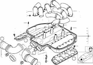 Прокладка впускного коллектора Ауди Спайдер 2012-2014 R8
