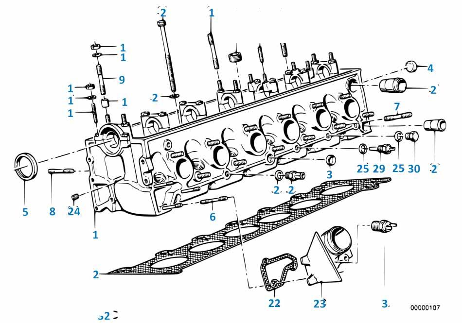 Прокладка головки блока Бмв Е87 ЛСi 1 серия