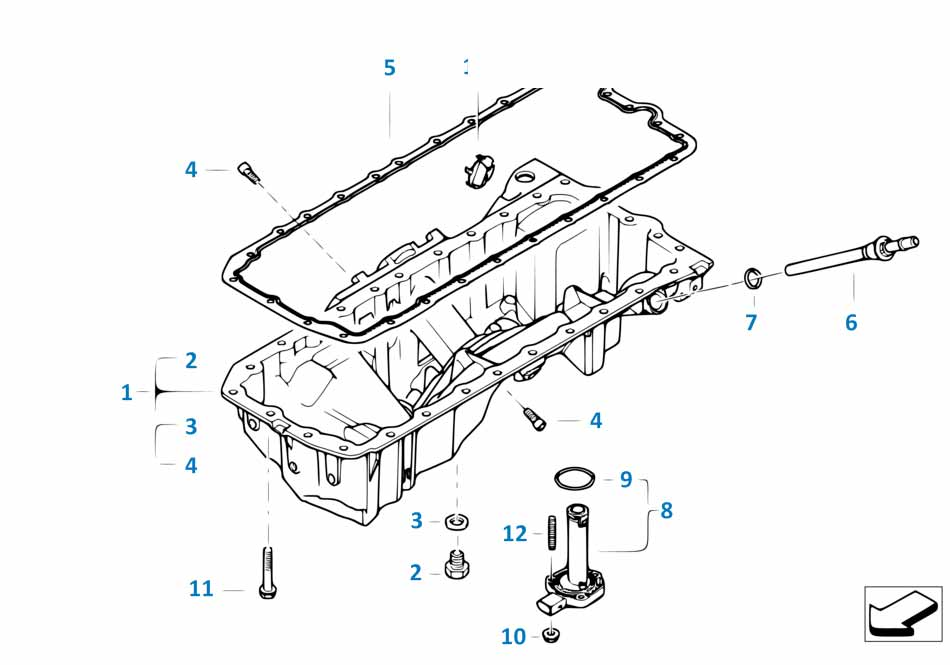 Е87 ЛСi прокладка датчика уровня масла   заказать