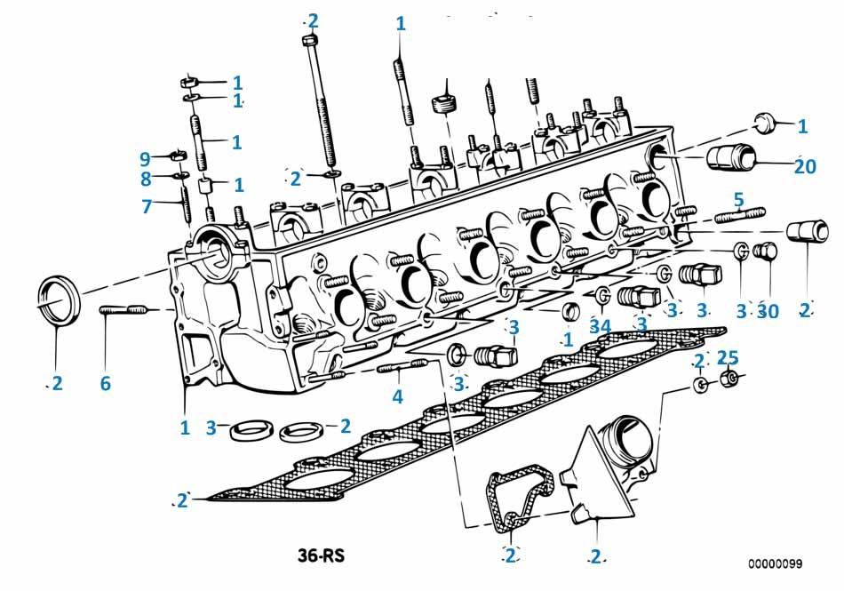 Прокладка клапанной крышки Порше Турбо 1989-1992 911