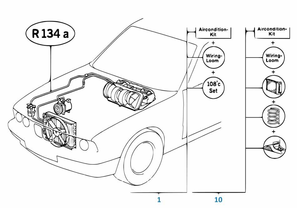 Радиатор кондиционера Бмв Е81 1 серия