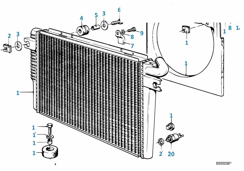1 1985-1990 Радиатор  заказать