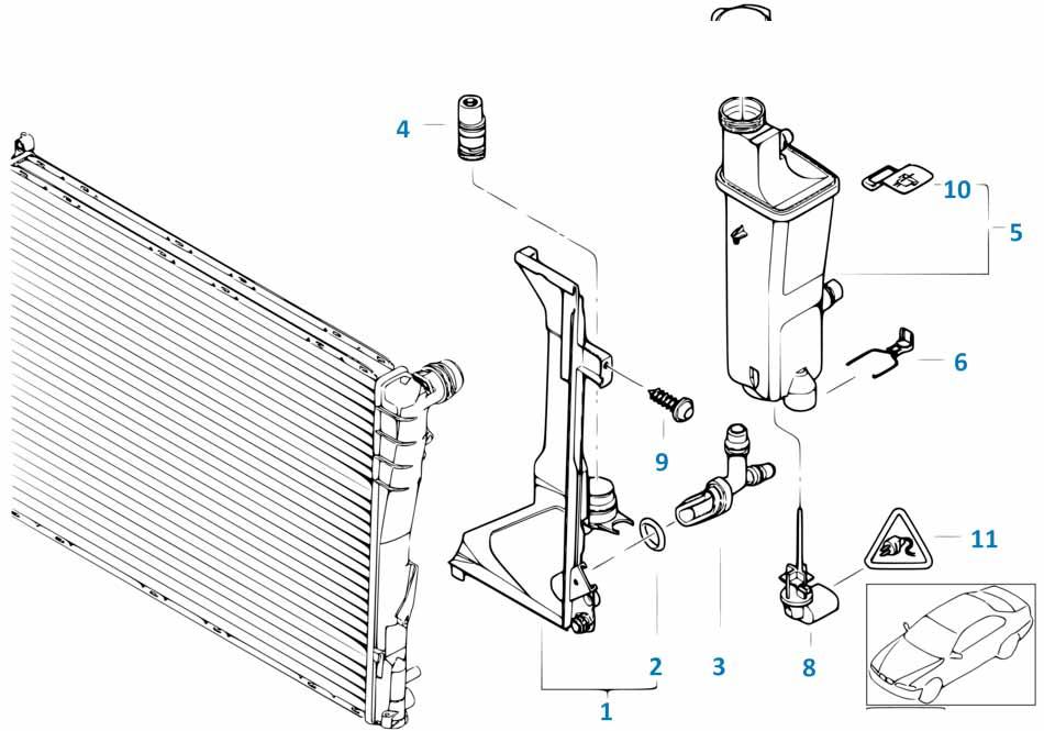 Е81 расширительный бачек радиатора  купить