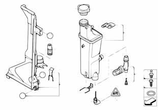 Расширительный бачек радиатора Бмв Е83 X3 серия