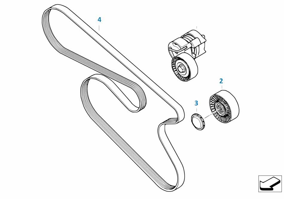 Е87 ЛСi ролик привода кондиционера  купить