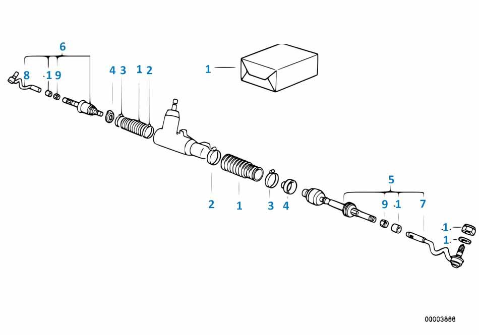 Б5 1997-2001 Рулевая тяга  заказать