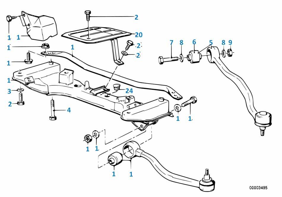 Рычаг передней подвески Бмв Е87 ЛСi 1 серия