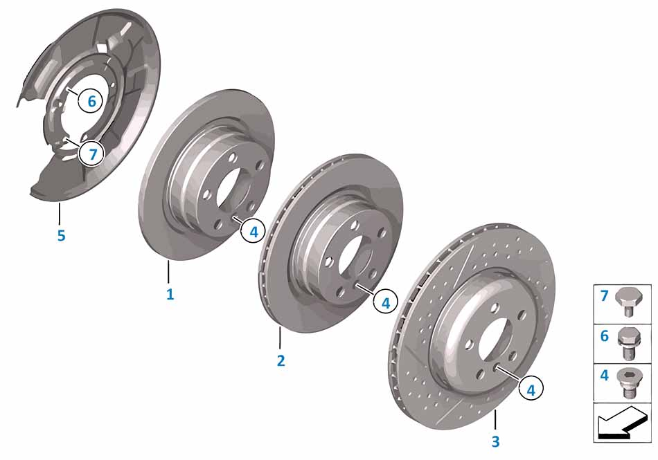 Тормозной диски задний Бмв Е81 1 серия