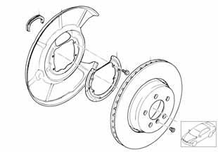 Е87 ЛСi тормозной диски задний  купить