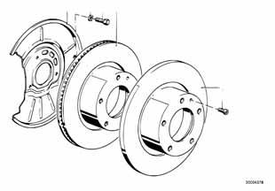 Тормозной диски передний Ауди С4 1988-1994 100