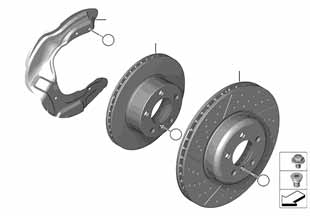Е87 тормозной диски передний  купить