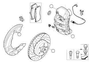 Е87 тормозной диски передний  заказать
