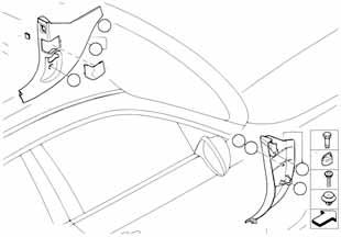 Трос ручного тормоза Бмв Е87 1 серия