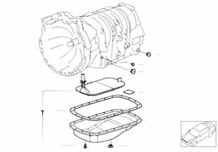 Е82 фильтр автоматической коробки передач  купить
